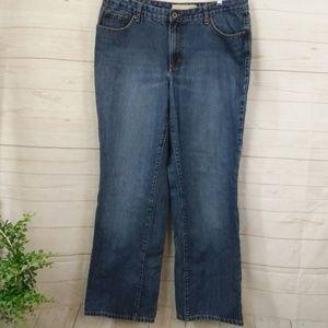 Vensia Ridged Bootcut Jeans 16 Tall Medium Wash